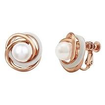 LAXPICOL Wedding Bridal Women Jewelry Love Knot Pearl Clip-on Earrings E... - $9.97
