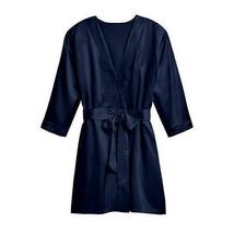 Silky Kimono Robe - Navy Blue 1XL - 2XL (Pack of 1)  - $39.99