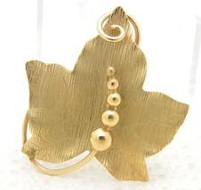 VTG 1/20 12k Gold Filled CARL ART Maple Leaf Brooch Pin - $39.60