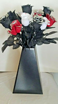 1 Dozen Halloween Glitter Roses - Black, Red, White - £14.53 GBP