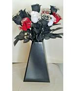 1 Dozen Halloween Glitter Roses - Black, Red, White - $19.99