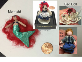 Choice Artist Miniature Dolls: Red Hair Mermaid, World of Bear, Bed or B... - $16.99+