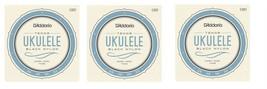 D'Addario Ukulele Strings 3-Pack Black Nylon EJ53T Uke Tenor - $23.48