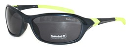 Timberland Sunglass Mens Indigo Blue Rectangle Plastic, Smoke Len TB7057 90A - $17.99