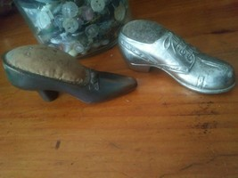 2 Vintage Shoe Pin Cushion Lot Japan - $19.79