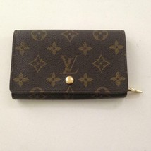 Louis Vuitton, Brown MonoTresor Bi-Fold Zip Wallet 5.5in x 4in (CA1906) - $237.45
