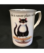Kirsty Jayne Staffordshire England Kitty Cat Moggies 10oz. Bone China Co... - $18.99