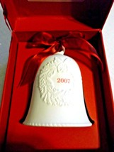 Hallmark Porcelain Bell Dated 2007 in Red Box New - $11.04