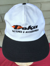 Deka Batteries Company Logo Snapback VTG Baseball Cap Hat Made in USA - $15.69
