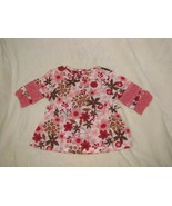 Baby Girl/Doll Infant 0-3 Month Janie and Jack 2006 Pink Brown Flower Ca... - $14.84