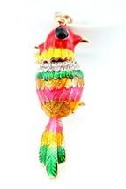 Colorful Bird Keychain Crystal Charm Animal Purse Gift Cute #MCK11 - $18.17