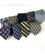 Vtg To Modern Men's Ties Mod Geo 9 Pc Lot for Crafts Wear Wembley Grethe... - $14.84