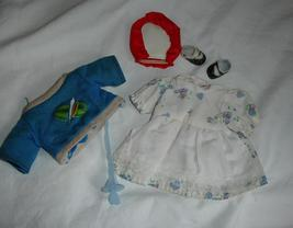 Doll Clothes and shoes lot includes dress and top for wide short doll - $6.99