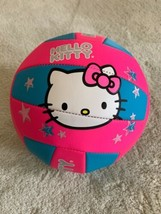 Hello Kitty Blue Pink White Bow Silver Stars Soccer Ball - $15.97