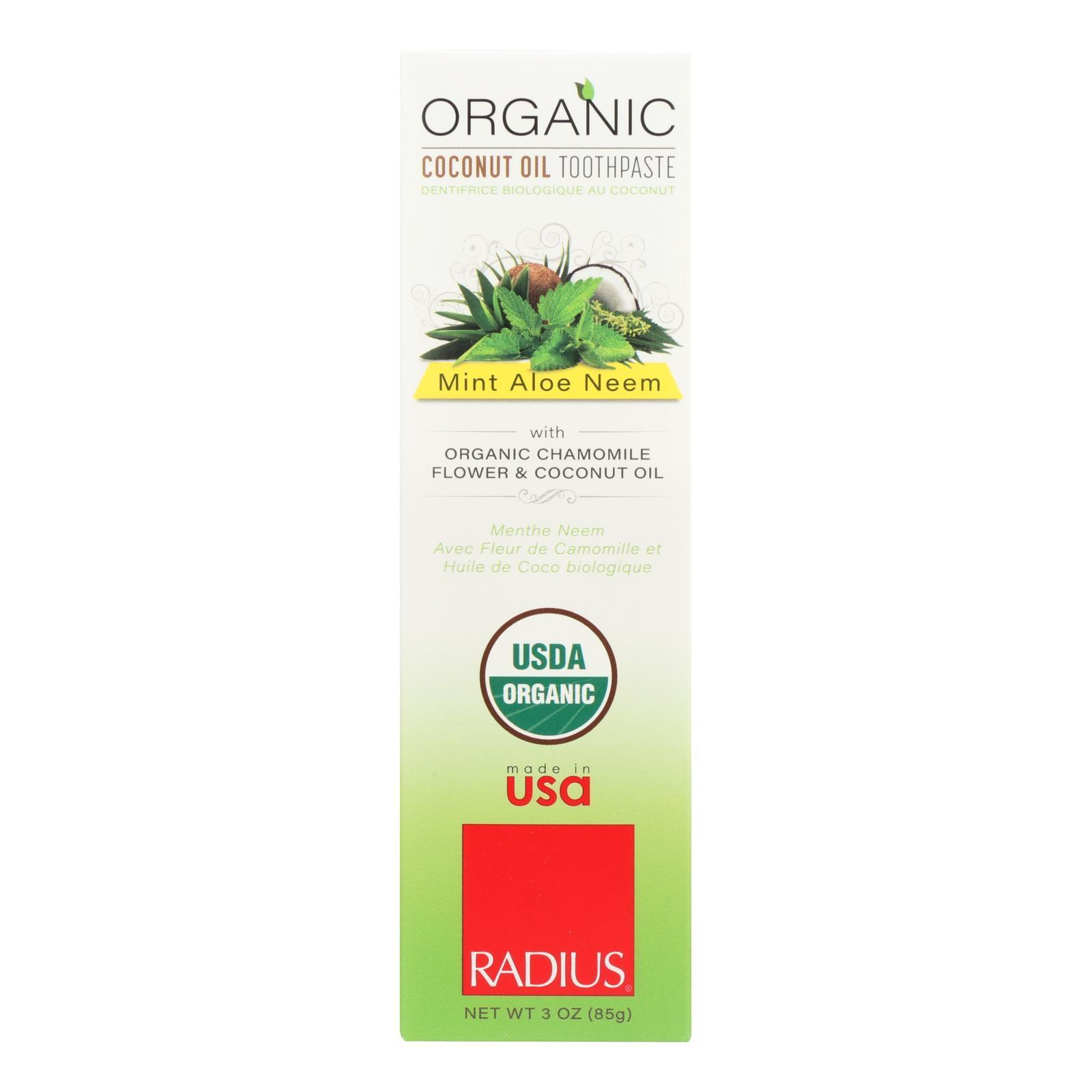 Radius Whitening Mint Aloe Neem Toothpaste  - 1 Each - 3 Oz - $6.60