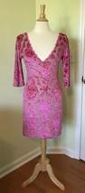 Intimately FREE PEOPLE Women M Fair Maiden Velvet Bodycon Mini Dress Pink Nude - $28.02