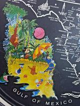 """Vintage 1970's Walt Disney World Florida Round Tin Metal Tray Souvenir 11"""" image 3"""
