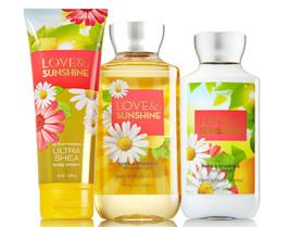 Bath & Body Works Love & Sunshine Trinity Gift Set - $40.95