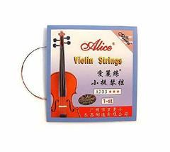 4/4 Violin Strings Set, Includes G, D, A & E, Medium Gauge
