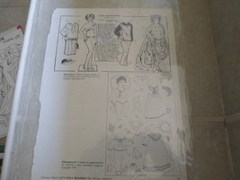 Paper Dolls from Doll Reader Magazine 1987.1 pg... - $3.58