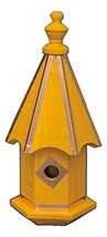 Bluebird Birdhouse - Bright Yellow With Copper Trim & Accents Amish Handmade Usa - $146.97