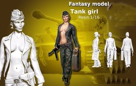 120mm tank girl Front soldiers standing summer figure Historical WWII Re... - $43.80
