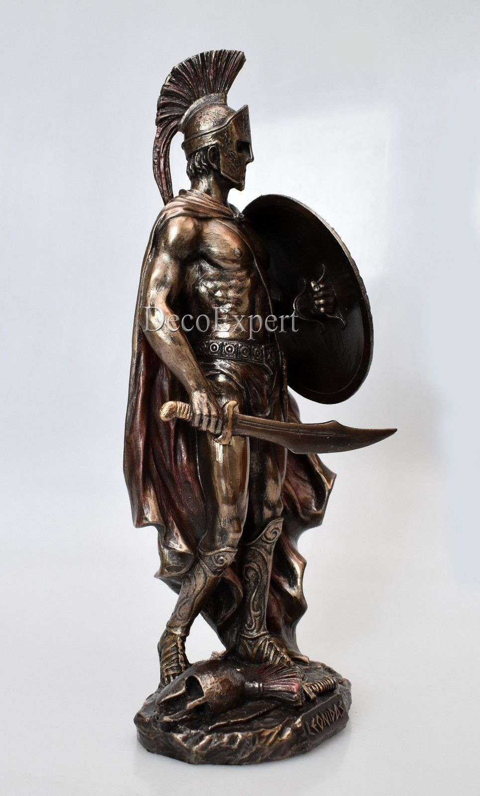 Leonidas with Sword & Shield Big Beautiful Bronze 300 Spartans * Free Shipping