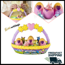 VHTF Hatchimal CollEGGtibles Spring Easter Basket 6 Hatchimals -4 Exclus... - $19.87