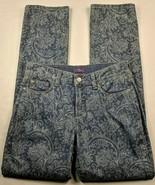 NWT NYDJ Women's Marilyn Lift Tuck Jeans Size 2 Medium Wash Skinny Geome... - $53.00
