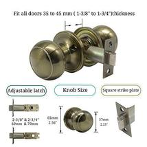 Hall and Closet Doorknobs Polished Bronze, Antique Bronze Door Knobs Interior, P image 2