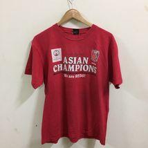 J League Urawa Reds Asian Champion Soccer Football T-Shirt Size L Red, Japan JFA image 3