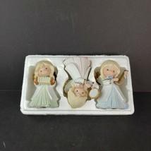 Vintage Bisque Porcelain Angel Trio Homco Home Interiors #5504 Music Theme - $14.99