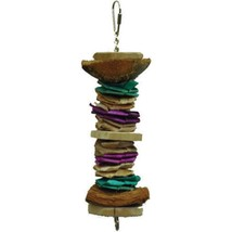 A&e Cage Assorted Java Wood Triple Decker Bird Toy 8.5x3 In - £19.05 GBP