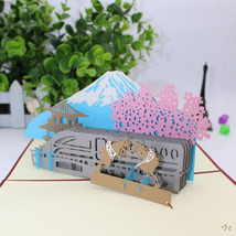 Mount Fuji--3D Greeting Card--3D Greeting Card, Pop Up Card, Pop Out Card - $6.72
