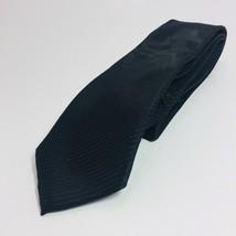 Alfani Necktie Mens Savy Abstract Black Silk Neck Tie Formal Black - $8.80