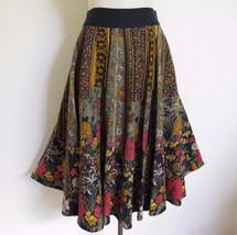 Anthropologie Viola Guest Suite Circle Skirt 8 Autumn Floral Butterflies... - $51.41