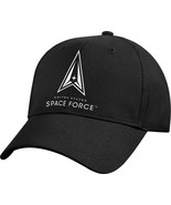 Black US Space Force Logo Cap USAF Low Profile Hat - $11.99