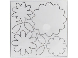 Creative Imaginations Blank Chipboard Blooms d-mensions, 3 Sheets & 24 Foam Dots image 3