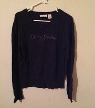 DKNY jeans sweater for woman, size large, black color, pre owned. - $9.90
