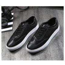 Simple Patchwork Shoes Leather White Breathable Classic Merkmak Summer Mesh Cas pwqOn0H