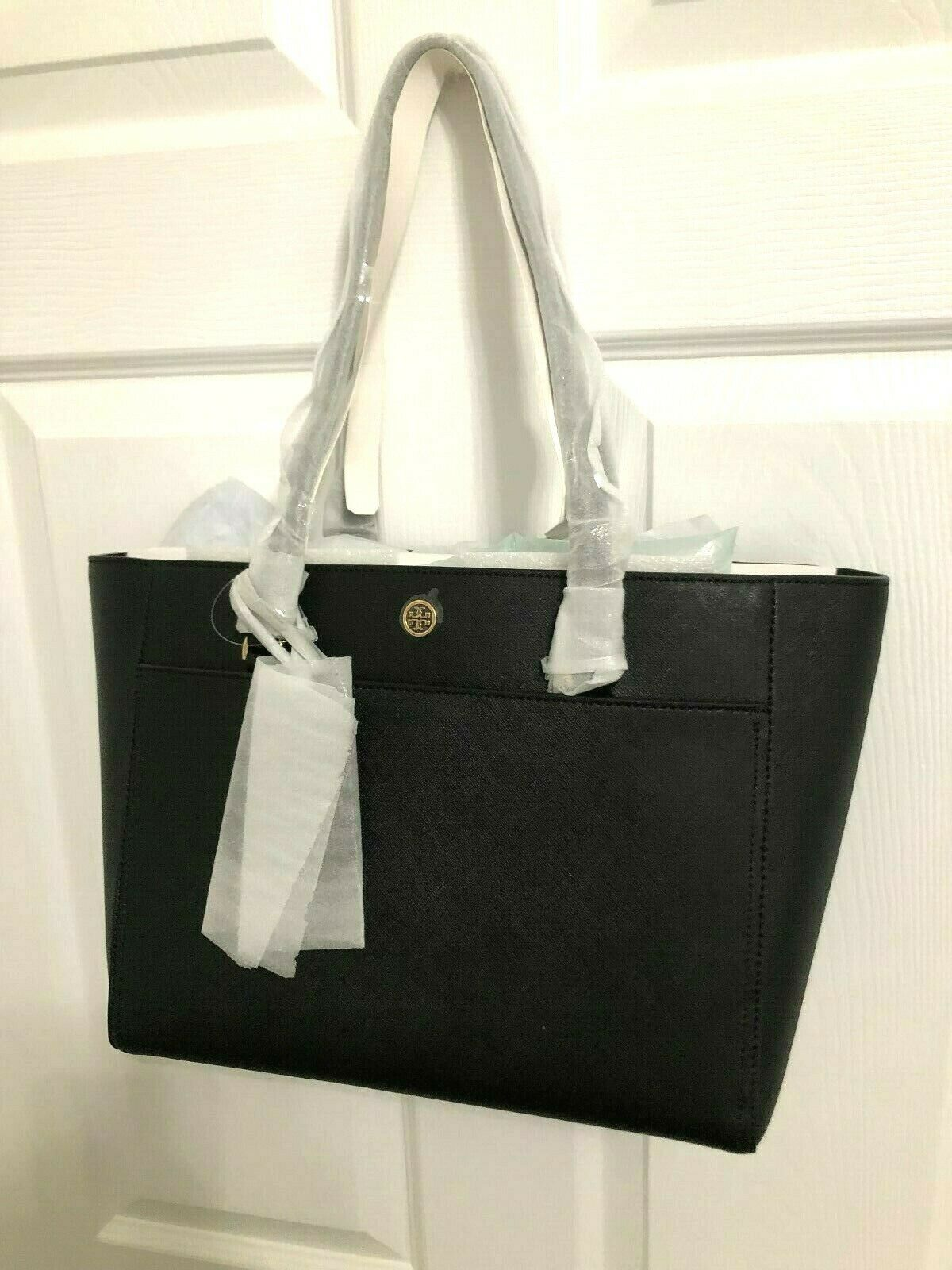 Tory Burch Robinson Small 3 Chamber Saffiano Leather Shoulder Pocket Tote New image 5