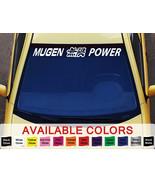 """Honda MUGEN POWER Logo Windshield Cut Out Vinyl Sticker Decal 40"""" x 4.5"""" - $11.90"""