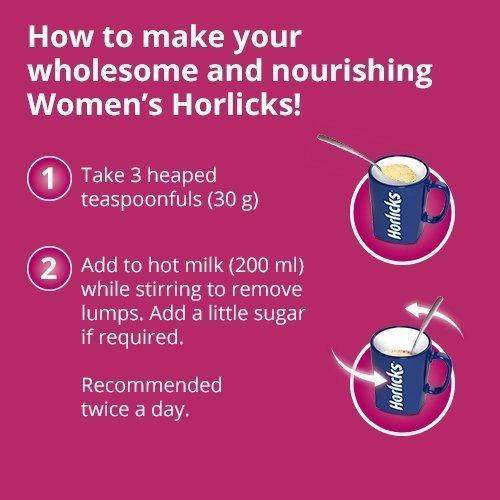 Women's Horlicks 400Gm Nutrition Drink Choose from 2 Flavors Chocolate / Caramel image 4