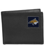montana state bobcats logo ncaa college leather bi-fold wallet usa made - $31.58