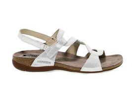 Sandalo basso MEPHISTO ADELIE B in pelle bianco - Scarpe Donna - $148.86