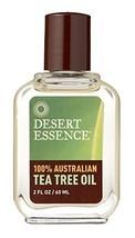 Desert Essence 100% Australian Tea Tree Oil - 2 Fl Oz - Therapeutic Grade Essent