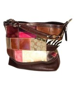 Coach Multi-Color Leather Holiday Patchwork Tote Shoulder Bag Purse #10434 - $69.00