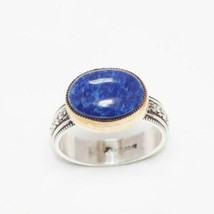Sundance Catalog $325 Blue Lapis Sterling Silver Ring Modern Handcrafted - $188.09