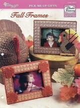 Fall Frames TNS Turkey & Fall Leaves NEW Plastic Canvas Pattern  - $1.32