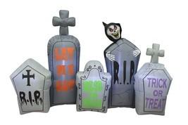 7 Foot Long Halloween Inflatable Tombstones Pathway Reaper Scene Yard De... - ₨6,325.87 INR